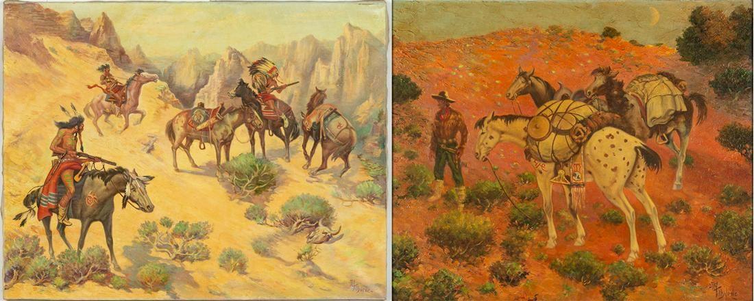 (2) Albert Roanoke Tilburne (1887-1965) Paintings