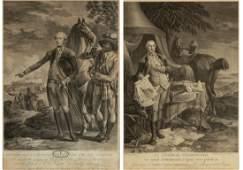 (2) Noel Le Mire (1724-1801) Engravings of George Washi