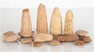 Group of Cuneiform Tablets & Votive Cones