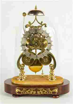 English 2-Tier Skeleton Clock