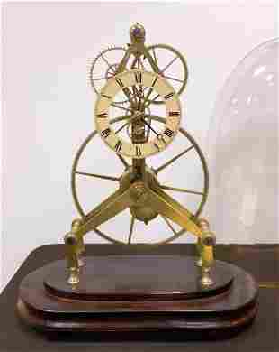 Brass Skeleton Clock
