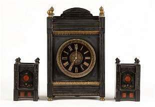 Tiffany & Company Aesthetic Period 3-Piece Clock Set