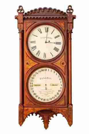 Seth Thomas Double Dial Calendar Clock