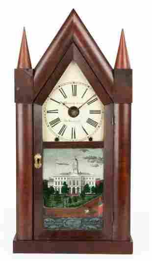 Chauncey Jerome Oversized Steeple Shelf Clock