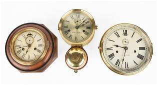 (3) American Lever Dial Clocks