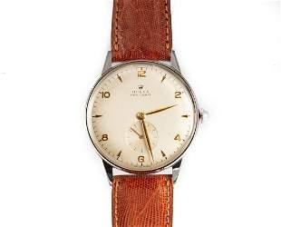 Rolex Precision Steel Wrist Watch