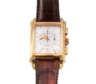 18K Gold Girard Perregaux Chronograph Wristwatch