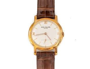 18K Gold Patek Philippe, Geneve Calatrava Wristwatch