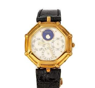 18K Gold Gerald Genta Perpetual Calendar Wristwatch