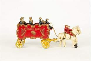 Hubley Cast Iron Overland Circus