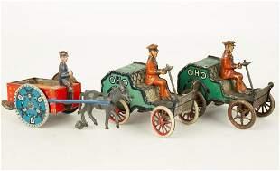 (3) Vintage Lehmann Wind Up Toys