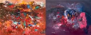 (2) Ralph M. Rosenborg (American, 1913-1992) Paintings