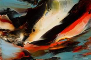 Leonardo Nierman (American, b. 1932) Volcanic Landscape