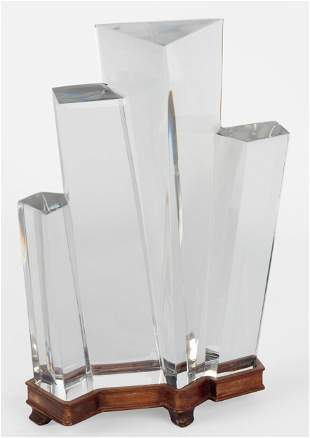 Baccarat Crystal Abstract Sculpture