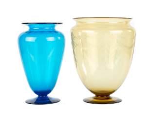 (2) Large Steuben Vases