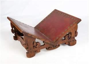 Style of Charles Rohlfs, Oak Log Holder