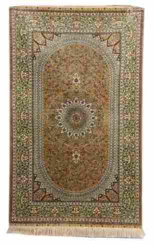 (2) Fine Vintage Silk Persian Rugs