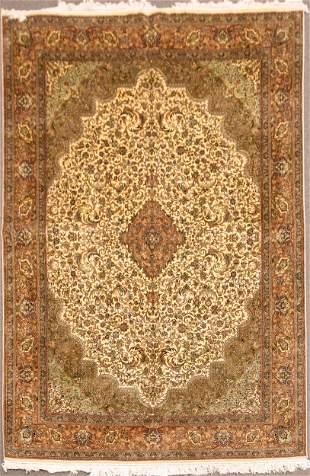 Vintage Fine Silk Oriental Rug