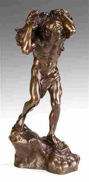 Robert Weigl (Austrian, 1851-1902) Bronze Hunter with