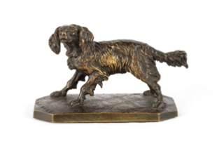 Pierre Jules Mene (French, 1810-1879) Bronze Dog