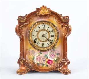 Ansonia Royal Bonn La Fontaine Mantel Clock