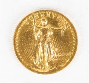 Style of 1907 Saint-Gaudens High Relief Double Eagle 20