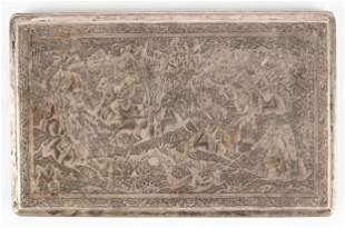 Persian Sterling Silver & Gilt Cigarette Case