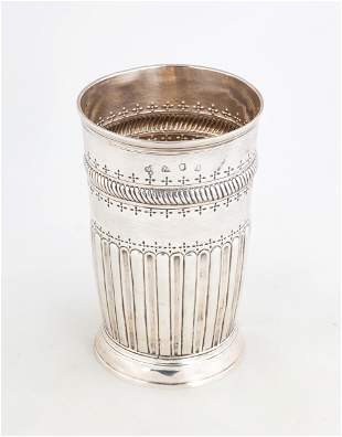 English Sterling Silver Beaker