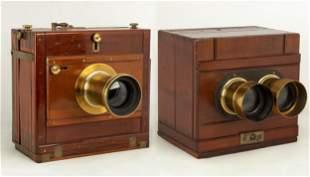 J. H. Dallmeyer London 15 x 12 Stereo Camera and