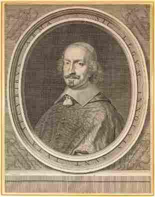 """Robert Nanteuil (French, 1623-1678) """"Cardinal Jules"""