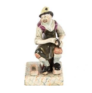 English Staffordshire Pearlware Ceramic Figure of