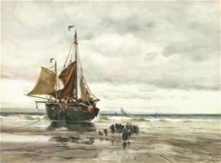 Charles P. Gruppe (American, 1860-1940) Watercolor