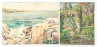 (2) Emma Lampert Cooper (American, 1855-1920) Paintings