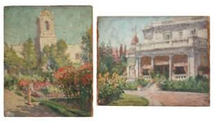 (2) Emma Lampert Cooper (American, 1855-1920) San Diego