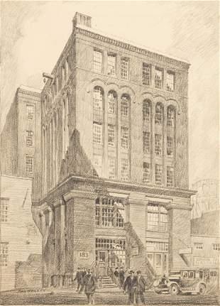 John C. Wenrich (American, 1894-1970) Charcoal Drawing