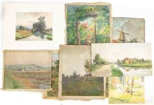 (8) Emma Lampert Cooper (American 1855-1920) Paintings