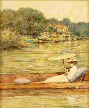 Mortimer L. Menpes (British, 1855-1938) Woman in Boat