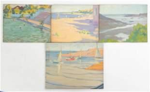 (4) Clifford Ulp (American, 1885-1957) Paintings