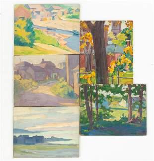 (5) Clifford Ulp (American, 1885-1957) Paintings
