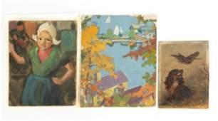 (3) American Paintings