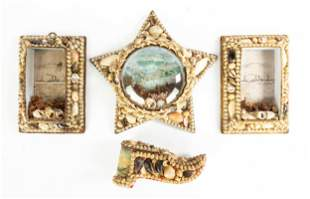 Group of Victorian Shell Art