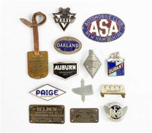 Group of Vintage Car Emblems, Badges and Insignias