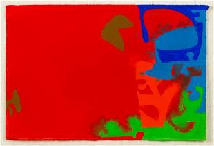 """Patrick Heron (1920-1999) """"Mini Mini Plus: Red, April"""