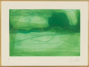"Helen Frankenthaler (1928-2011) ""Spring Veil"""