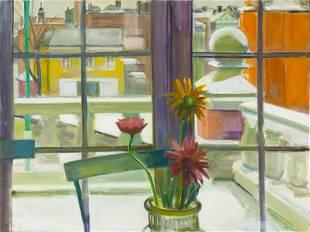 """Virginia Tillou (American, 1906-1995) """"Wintry Day"""""""