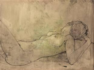 Jean Jansem (French, 1920-2013) Reclining Nude