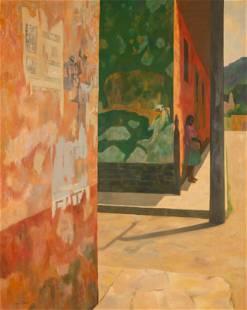 Virginia Cuthbert (American, 1908-2001) Street Scene