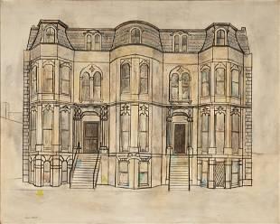 "Virginia Cuthbert (American, 1908-2001) ""Mansion"""