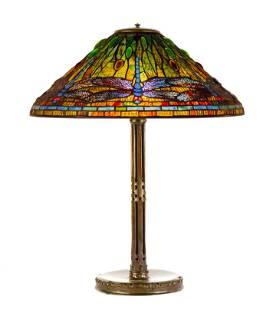 "Tiffany Studios, New York, ""Dragonfly"" Table Lamp"