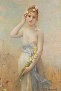 """Jules Joseph LeFebvre (1836-1911) """"Morning Glory"""""""